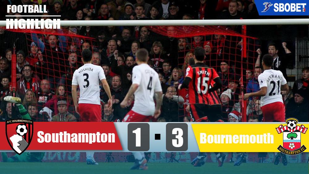 เซาแธมป์ตัน 1-3 บอร์นมัธ ดูบอลย้อนหลังพรีเมียร์ลีกอังกฤษ (Premier League)