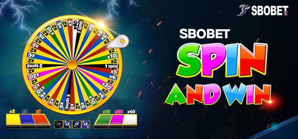 SPIN & WIN SBOBET เป็นเกมพนันล้อหมุนสโบเบท เล่นง่าย ได้รางวัลทุกช่อง