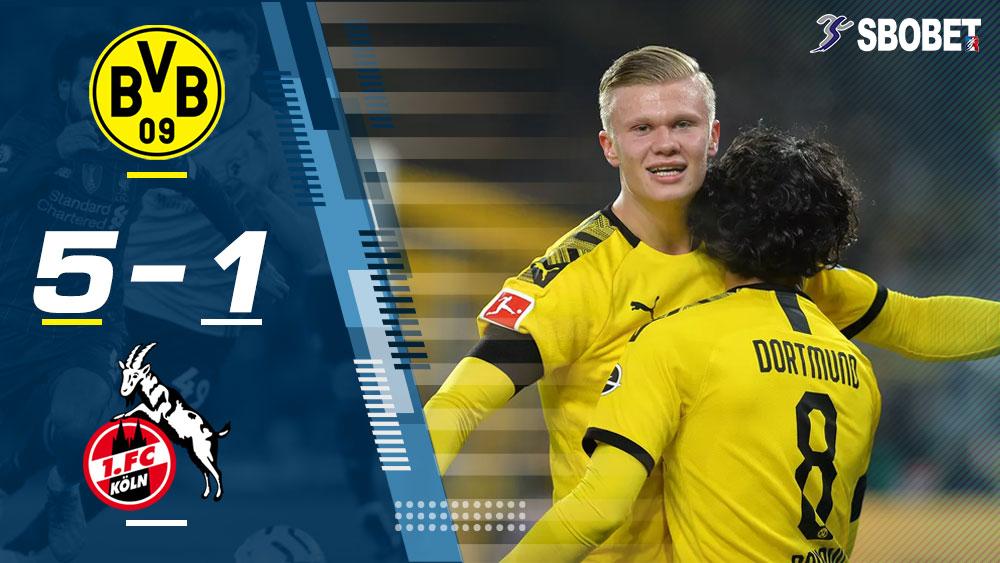 โบรุสเซีย ดอร์ทมุนด์ 5-1 โคโลญจน์ ดูบอลย้อนหลัง บุนเดสลีกา เยอรมัน