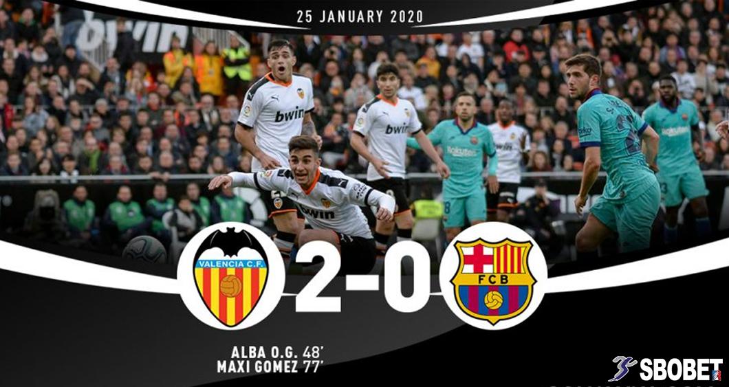 บาเลนเซีย 2-0 บาร์เซโลน่า ดูบอลย้อนหลัง ลาลีกา สเปน