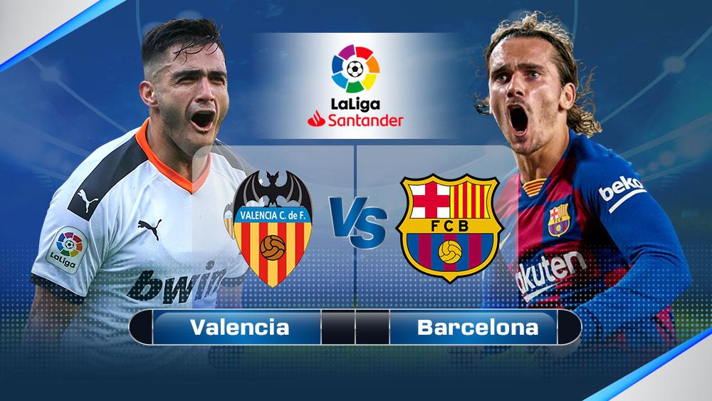 วิเคราะห์บอล คู่บอลเด็ดวันนี้ ทีเด็ดบอล บาเลนเซีย vs บาร์เซโลน่า