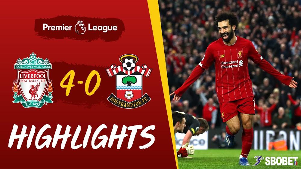 ลิเวอร์พูล 4-0 เซาแธมป์ตัน ดูบอลย้อนหลัง พรีเมียร์ลีกอังกฤษ (Premier League)