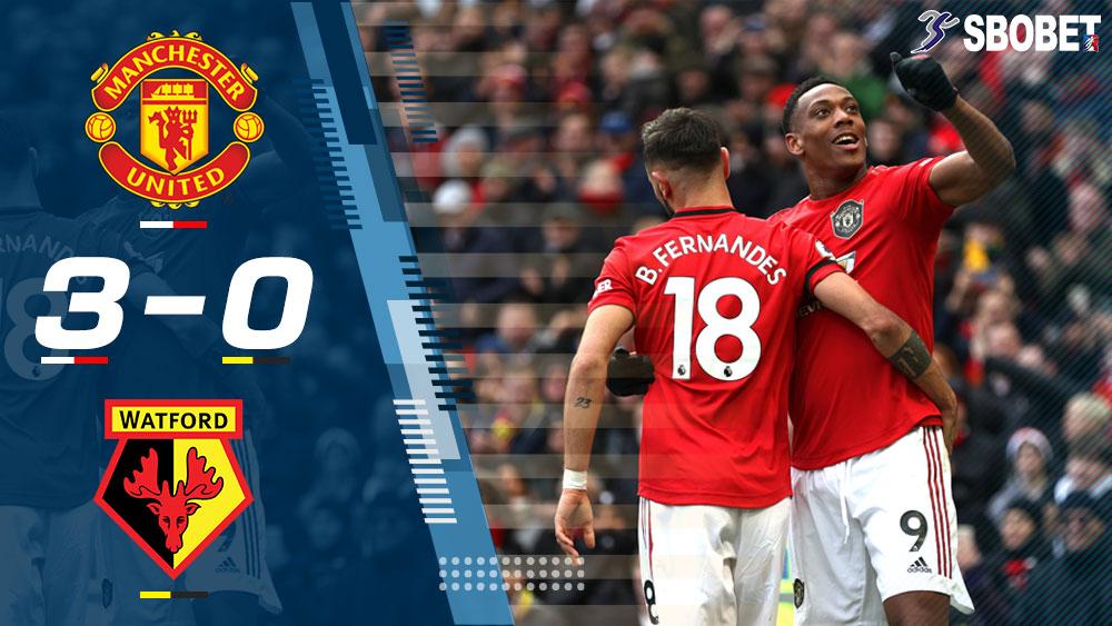 แมนฯ ยูไนเต็ด 3-0 วัตฟอร์ด ผลบอลเมื่อคืน พรีเมียร์ลีกอังกฤษ