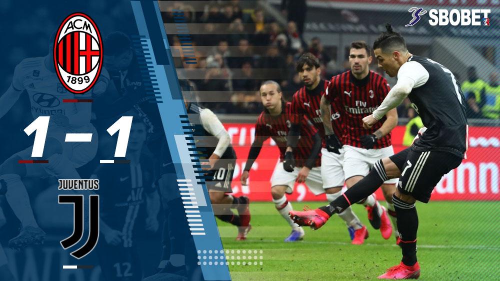 เอซี มิลาน 1-1 ยูเวนตุส ผลบอลเมื่อคืน โคปปา อิตาเลีย 13 ก.พ. 2020