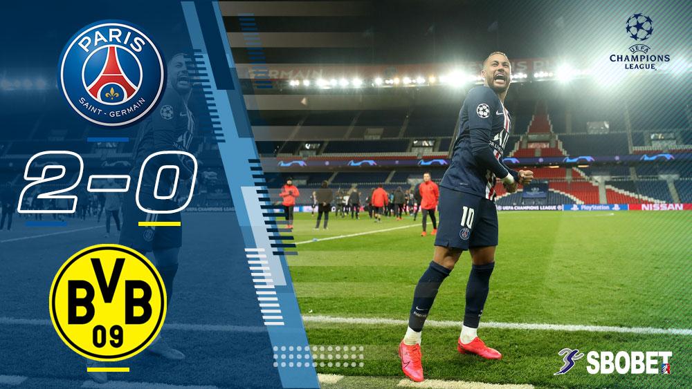 ปารีส แซงต์ แชร์กแมง 2-0 ดอร์ทมุนด์ ผลบอลเมื่อคืน ยูฟ่าแชมป์เปี้ยนส์ลีก